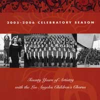 Los Angeles Children's Chorus : 20 Years of Artistry : 00  1 CD : Anne Tomlinson :