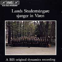 Lund University Male Choir : Lund Sjunger in Varen : 00  1 CD :  : 162