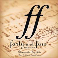 Minnesota Boychoir : Forty and Fine : 00  1 CD : Mark S. Johnson