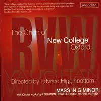 Oxford New College Choir : Mass in G Minor : 00  1 CD : Edward Higginbottom :  : 84441