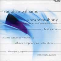Atlanta Symphony Orchestra & Chorus : Vaughn Williams - A Sea Symphony : 00  1 CD : Robert Spano : 80588