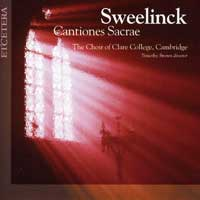Choir of Clare College : Sweelinck - Cantiones Sacrae : 00  2 CDs : Timothy Brown : KTC 2025
