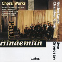Netherlands Chamber Choir : Hindemith Choral Works for a Cappella Chorus : 00  1 CD : Uwe Gronostay : Paul Hindemith : 5125