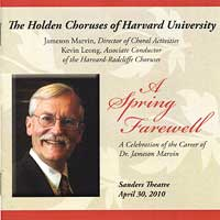 Harvard Glee Club : A Spring Farewell : 00  2 CDs : Jameson Marvin :