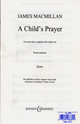 A Child's Prayer : SATB : James MacMillan : Songbook : 48011812 : 073999986891