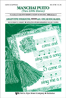Manchai Puito (Two Little Doves) : SATB : Oscar Escalada : Sheet Music : 8758