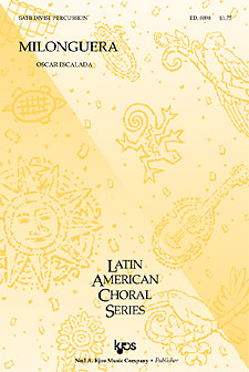 Milonguera : SATB : Oscar Escalada : Sheet Music : 8898 : 8402701299