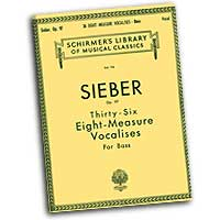 Ferdinand Sieber : Vocalises - Bass : Solo : Vocal Warm Up Exercises :  : 073999528404 : 50252840