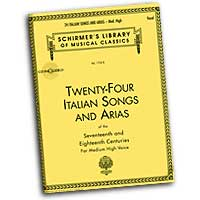 Various Composers : Twenty-Four Italian Songs and Arias - Medium High Voices : Solo : Songbook & CD :  : 073999815924 : 0793515130 : 50481592