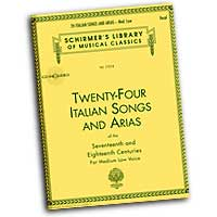 Various Composers : Twenty-Four Italian Songs and Arias - Medium Low Voices : Solo : Songbook & CD :  : 073999815931 : 0793515149 : 50481593