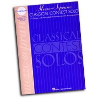 Various Composers : Mezzo-Soprano Classical Contest Solos : Solo : Songbook & CD :  : 073999854022 : 0793577993 : 00740074