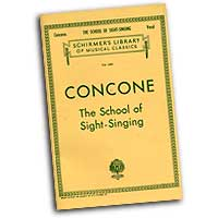 Giuseppe Concone : The School of Sight-Singing : Solo : 01 Songbook :  : 073999537505 : 0793551021 : 50253750