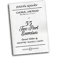 Zoltan Kodaly : 55 Two-Part Exercises : 2-Part : Vocal Warm Up Exercises : Zoltan Kodaly : 073999864274 : 48009969