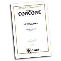 Giuseppe Concone : Fifteen Vocalises, Op. 12 (Finishing Studies) : Solo : Vocal Warm Up Exercises :  : 654979191759  : 00-K09154