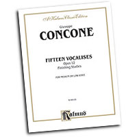 Giuseppe Concone : Fifteen Vocalises, Op. 12 (Finishing Studies) : Solo : Vocal Warm Up Exercises :  : 029156981773  : 00-K09155