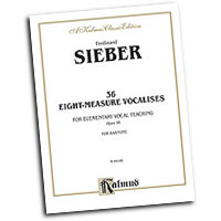 Ferdinand Sieber : 36 Eight-Measure Vocalises for Elementary Teaching : Solo : Vocal Warm Up Exercises :  : 029156207125  : 00-K09186