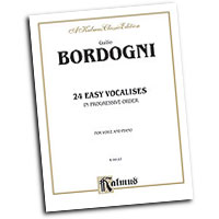 Marco Bordogni : Twenty-four Easy Vocalises in Progressive Order : Solo : 01 Book :  : 029156958065  : 00-K09147
