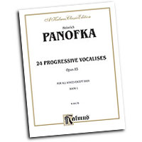 Heinrich Panofka : Twenty-four Progressive Vocalises, Op. 85, Volume I : Solo : Vocal Warm Up Exercises :  : 029156638189  : 00-K09176