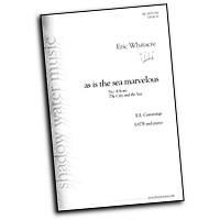 Eric Whitacre : The City and the Sea : SATB : Sheet Music