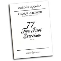 Zoltan Kodaly : 77 Two-Part Exercises : 2-Part : Vocal Warm Up Exercises : Zoltan Kodaly : 48009996