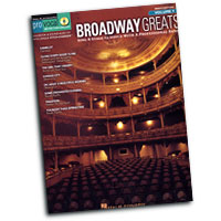 Pro Vocal  : Broadway Greats : Solo : Songbook & CD : 884088268398 : 1423460839 : 00740411