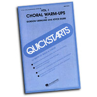 Gordon Tjernlund / Joyce Eilers : Quickstarts - Choral Warm-Ups : 01 Songbook Vocal Warm Up Exercises : 073999170146 : 40217014