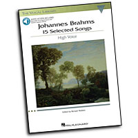 Johannes Brahms : 15 Selected Songs : Solo : Songbook & CD : Johannes Brahms : 884088185022 : 1423446631 : 00001141