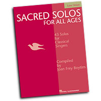 Joan Frey Boytim (editor) : Sacred Solos for All Ages - Low Voice : Solo : Songbook : 073999229646 : 063404852X : 00740201