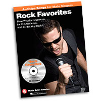 Rock Favorites : Audition Songs for Male Singers : Solo : Songbook & CD : 884088469375 : 1423489497 : 14036220