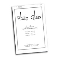 Philip Glass : Three Choruses for Mixed Voices : SATB : Sheet Music : Philip Glass